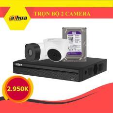 [GIÁ CỰC SỐC] Trọn Bộ 02 Mắt Camera Dahua Full HD 1920x1080p (2.0M) – Kèm Ổ Cứng 500G – Xem Được Trên Điện Thoại
