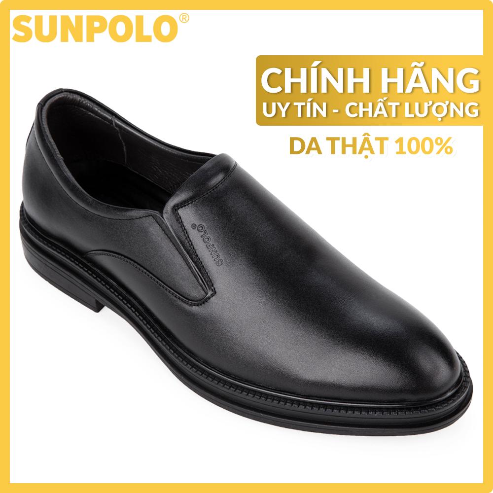 Giày Nam Da Thật SUNPOLO SPH297 (Đen, Nâu)