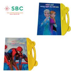 [HCM]Sách quý song ngữ hoạt hình tặng kèm pin và bút dạ cho bé