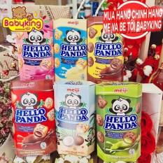 Bánh gấu Meiji Hello Panda nhân kem tươi – hộp 50g ( Date 11/2021-2022)