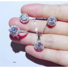 Set bộ đá tròn gồm 3 món sang chảnh – Dây chuyền bông tai nhẫn bạc S925, cam kết hàng đúng mô tả, chất lượng đảm bảo, xin inbox cho shop để được tư vấn thêm