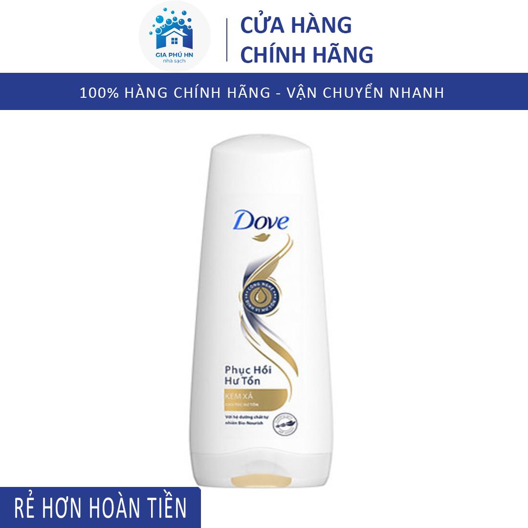 Dầu Xả Tóc Dove, Giúp Phục Hồi Tóc Hư Tổn, Ngăn Ngừa Rụng Tóc Chai 140g