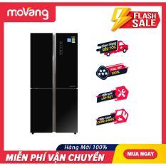 Tủ lạnh Side by Side 4 cửa Aqua Inverter 516 lít AQR-IG525AM.GB tiết kiệm điện, kháng khuẩn khử mùi thông minh