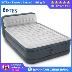 Giường hơi tự phồng công nghệ mới có đầu giường INTEX 64448, Nệm hơi 2 người, nằm êm ái, hút/xả hơi tiện dụng – Bảo hành 12 tháng