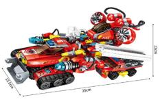 Bộ đồ chơi lắp ráp 8 trong 1 xe cứu hỏa c1410
