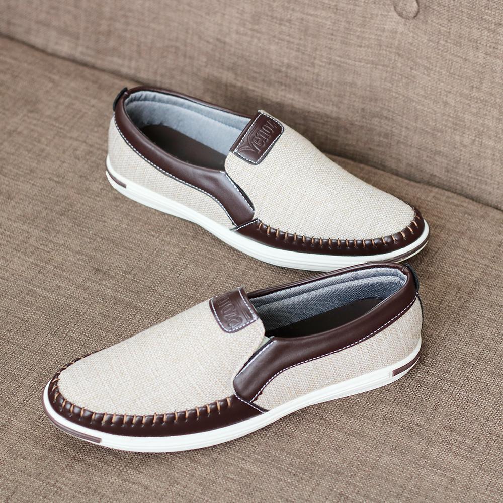 Giày lười nam vải - Giày thể thao- khuyến mãi chào xuân