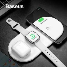 Sạc Nhanh Không Dây HãNg Baseus Wx3In1 Siêu Mỏng Sạc 3 Trong 1 Cho Smartphone, Iphone X, Xs, Xs Max , Smartwwatch Và Tai Nghe Airpod