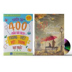 Combo 2 sách: 999 Bức Thư Viết Cho Bản Thân (Trung – Pinyin – Việt, Có Audio nghe) + Tuyển tập 400 mẫu bài dịch Trung – Việt, Việt – Trung hay nhất (Song ngữ Trung – Việt – có phiên âm, có Audio nghe) + DVD quà tặng