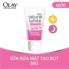 Sữa rửa mặt tạo bọt Olay Natural White Foaming Cleanser 50g