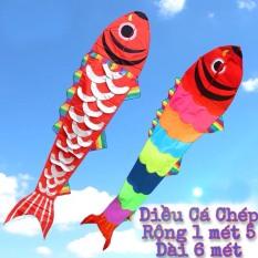 Combo 1 tặng 1 ) Diều Cá chép vảy bạc dài 6m (tặng tay cầm thả diều 100m dây) – ẢNH THẬT