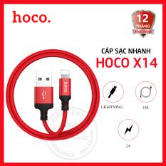 Cáp sạc nhanh Hoco X14 Lightning 2.0A dài 1m, cáp sạc Iphone – Dành cho điện thoại Apple