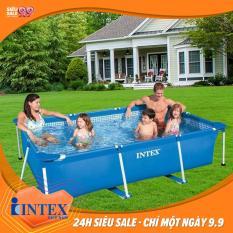 Bể bơi phao khung kim loại chữ nhật INTEX 28270