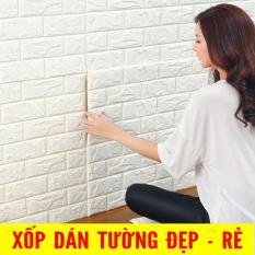 10 tấm Xốp Dán Tường 3D Giả Gạch / Chịu lực, chống nước, chống ẩm mốc / 70x77cm