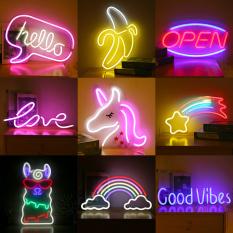 Đèn Neon Trang Trí / Đèn LED Nhiều Màu Sắc Kiểu Dáng New Led Bảng Neon Đầy Đủ Các Acrylic Neon Mặt Sau Trong Suốt Sạc Usb .(Mua 1 Đèn Tặng 1 Đầu Cắm Và Miếng Dán Tường)Đèn Decor Phòng Ngủ, Phòng Khách, Quán, Tiệm
