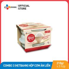 [Freeship + Combo 2 giảm 5% + Voucher 30k] Combo 3 (HETBAHN) Hộp Cơm ăn liền CJ Foods 210g