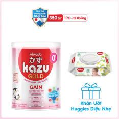[Tinh tuý dưỡng chất Nhật Bản] Sữa bột KAZU GAIN GOLD 350g 0+