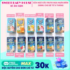 Sữa Fruto Nyannyan Nga ngày đêm tăng cân cho bé từ 6 tháng 200ml. Date 10/2021 – Sweet Baby House