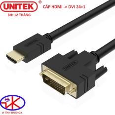 CÁP HDMI TO DVI 24+1 UNITEK DÀI 5M YC220A