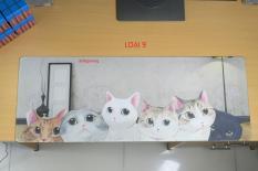 Bàn di chuột, miếng lót chuột, mouse pad size 80×30, 90×40 (mẫu mới 2019) gấu, chó, mèo, supreme dễ thương