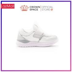 Giày Thể Thao Quai Dán 2 Màu Trắng, Hồng Cho Bé Gái Bé Trai Đi Học Đi Chơi Crown Space Cao Cấp CRUK8035 Size 28-36 cho bé 5-14 Tuổi