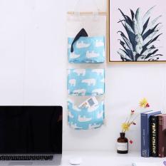 Túi vải đựng đồ treo tường 3 ngăn tiện dụng bst2355
