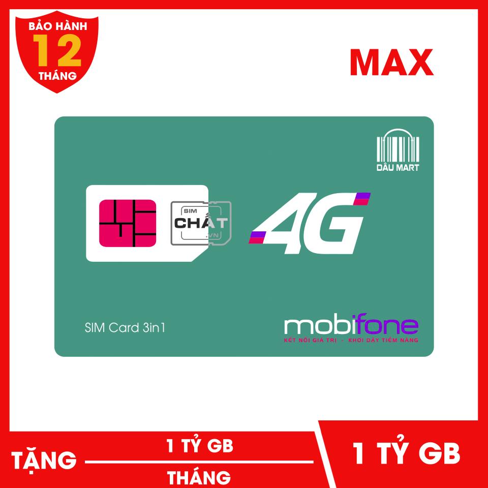 SIM 4G MAX DATA Mobifone 1 Tỷ GB/Tháng F120WF | Dùng 4G Thả Ga