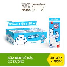 Thùng 48 hộp sữa Nestlé Gấu có đường 12(4x180ml)