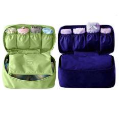 Bộ 2 túi đựng đồ lót du lịch mnpl (Xanh rêu – Xanh than)