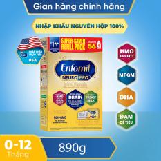 [FREESHIP MAX] [Nhập khẩu Mỹ] Sữa bột Enfamil NeuroPro Non-GMO Infant 890g – Dành cho trẻ 0-12 tháng tuổi (hộp 2 túi thiếc 445g) – Giới hạn 5 sản phẩm/khách hàng