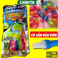 Bộ 111 Bong Bóng Nước Chùm Happybaby Balloons Có Sẵn Đầu Bơm – Bóng Bay Nước Chùm – Đồ Chơi Cho Bé Trai Và Bé Gái, Đồ Chơi Trẻ Em CHIRITA