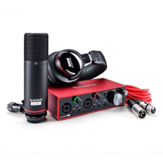Bộ Kit thu âm Combo Phòng Thu (Micro Condenser Scarlett CM25 MKIII, Tai Nghe Kiểm Âm Scarlett HP60 MKIII, Soundcard Scarlett 2I2 Gen 3) | Focusrite Scarlett 2i2 Studio