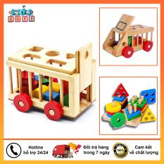 Đồ chơi xếp hình xe gỗ đồ chơi cho bé thỏa sức sáng tạo