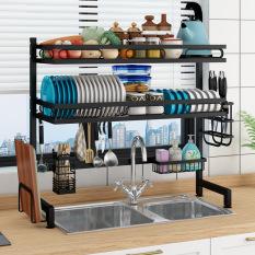 Giá đựng bát đũa kệ để đồ bếp lắp bên trên bồn rửa tiết kiệm không gian chạn bát kệ bếp 1 tầng 2 tầng tiện dụng