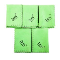IRIN 5pcs Microfiber Clean Polish for Musical Instrument Guitar Violin Piano Clarinet Trumpet cleaning cloth for sax