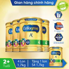 [FREESHIP] Bộ 4 lon sữa bột Enfagrow 4 cho trẻ trên 2 tuổi 1.7kg – Tặng 1 lon sữa bột Enfagrow 4 1.7kg – Cam kết hạn sử dụng còn ít nhất 10 tháng