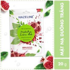 [Siêu thị Lazada] – Mặt nạ dưỡng trắng Hazeline Matcha Lựu Đỏ