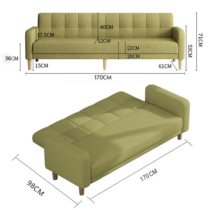 Ghế sofa phong cách châu âu 2 trong 1, tiết kiệm được không gian cũng như sử dụng hiệu quả hết công suất, ghế sofa giường, sofa giường, giường sofa. ME HOME