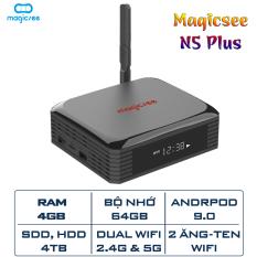 Android Tivi Box Magicsee N5 Plus Ram 4GB Bộ Nhớ 64GB – Hỗ trợ ổ cứng 4TB –