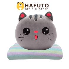 Gấu bông Hafuto | Gối mền mèo xám quà tặng cho bạn gái, đồ chơi trẻ em