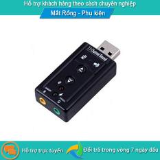 [USB ra Sound] Thiết bị chuyển đổi từ cổng usb ra card âm thanh 7.1 kết nối cổng USB ra 2 jack audio và mic có nút điều chỉnh âm lượng