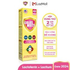 [HỘP DÙNG THỬ] Sữa bột Colosmulti A0 tăng sức đề kháng cho trẻ hộp 2 gói x 14g