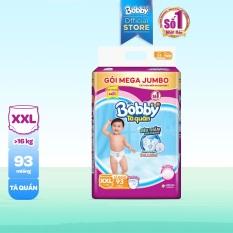 [GIÁ SỐC] Tã/bỉm quần Bobby gói Mega Jumbo XXL93 (Trên 17kg) – Cam kết HSD còn ít nhất 10 tháng