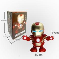 Đồ chơi Robot Iron Man Người Sắt nhảy múa có đèn và nhạc