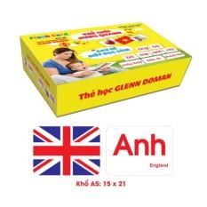 Thẻ học thông minh cho bé size lớn A5 15×21 cm kết hợp dạy trẻ đọc sớm 2 trong 1 theo phương pháp Glenn Doman