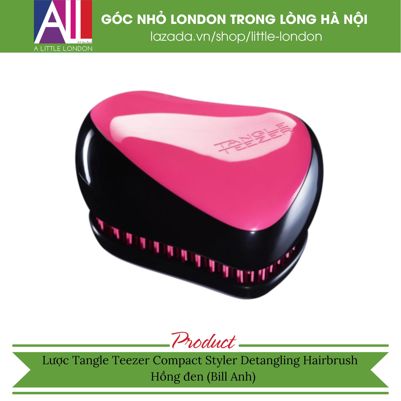 Lược Tangle Teezer Compact Styler Detangling Hairbrush – Hồng đen(Bill Anh)
