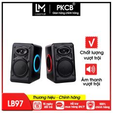 [VOUCHER 7%]Loa vi tính, loa nghe nhạc âm thanh nổi bass chuẩn sống động PKCB HT163 sử dụng được với điện thoại, máy tính bảng, laptop và các thiết bị hỗ trợ PF164