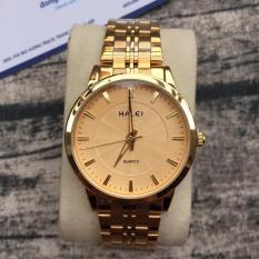đồng hồ nam halei mã só HL502 ,dây thép mạ vàng ,chất liệu không han rỉ