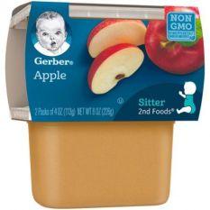Trái cây nghiền hữu cơ Geber vị táo 113g – pack 2