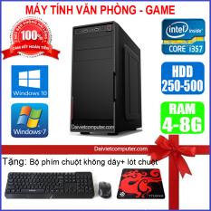 Case máy tính để bàn CPU Dual Core E7/8xxx / Core i3-2100 / Ram 4GB / HDD 250GB-500GB / SSD 120GB-240GB + [QUÀ TẶNG: Bộ phím chuột không dây + bàn di chuột] – SDV