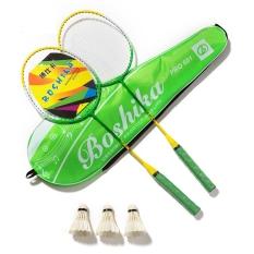 Bộ Vợt Cầu Lông Boshika 601 Pro Siêu Nhẹ Vợt Căng Đét + Tặng 03 quả cầu lông